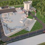 Цементный терминал на территории завода «Коммунар»